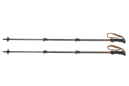 Kelty Cirque trekking poles, black, set of 2, shown fully extended