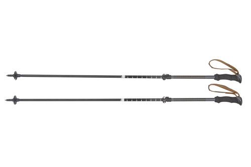 Kelty Origami trekking poles, set of two, shown assembled and fully extended