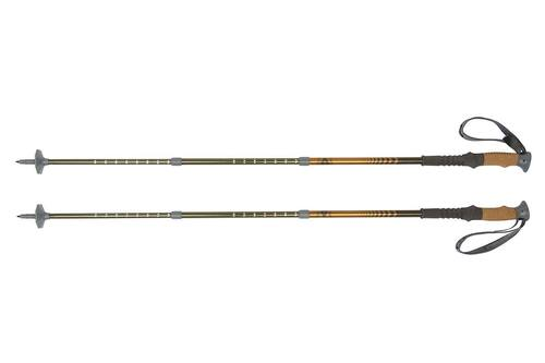 Kelty Range 2.0 trekking poles, gold, set of two, shown fully extended