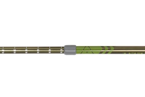 Close up of Kelty Upslope 2.0 trekking poles, showing twist-style locking mechanism