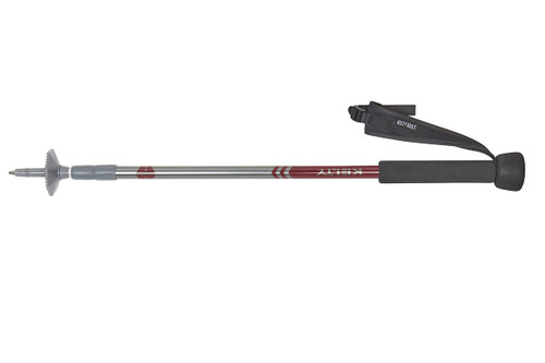 Kelty Snapshot trekking pole, silver, shown fully collapsed