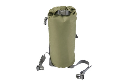 Kelty Varicom Compression Sack, shown fully packed, with lid unattached