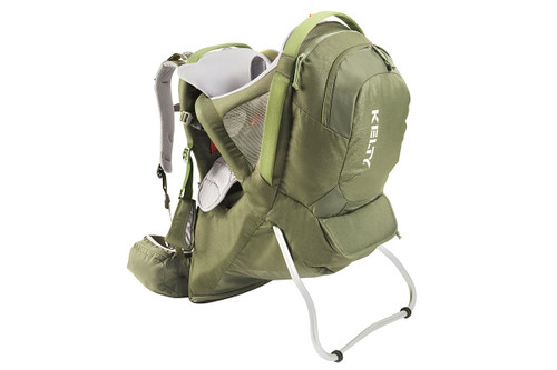 Kelty Journey PerfectFIT Signature child carrier backpack, Moss Green, front view