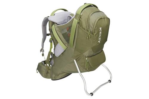 Moss Green - Kelty Journey PerfectFIT Elite child carrier backpack, front view