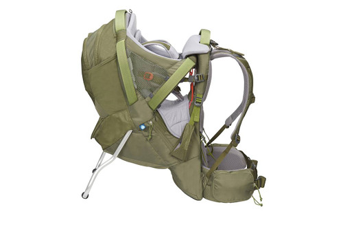 Kelty Journey PerfectFIT Elite child carrier backpack, Moss Green, side view