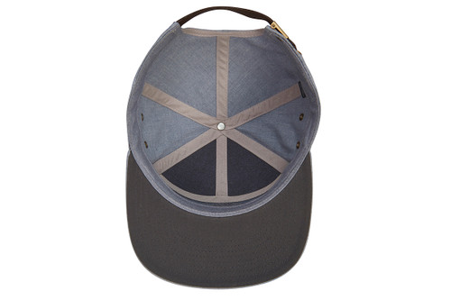 Kelty 7 Panel PITW Hat, dark gray/light gray, view of inside of cap