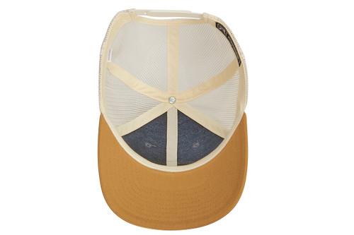 Kelty Mountain Trucker Hat, light gray/off white, view of inside of cap