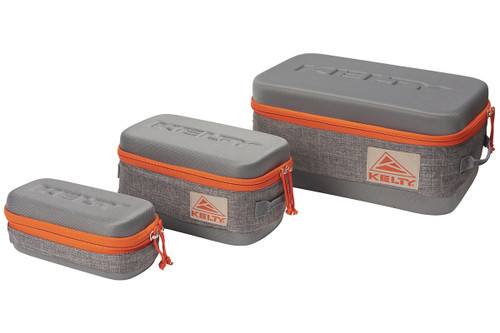 Set of 3 Kelty Cache Boxes, grey, closed