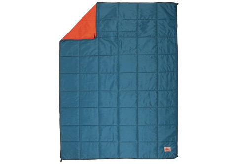Deep Teal/Mandarin Red - Kelty Bestie BFF Blanket, top view