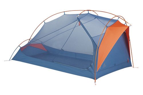 Kelty All Inn 2 Person Tent, blue colorway, side view, with rain fly removed