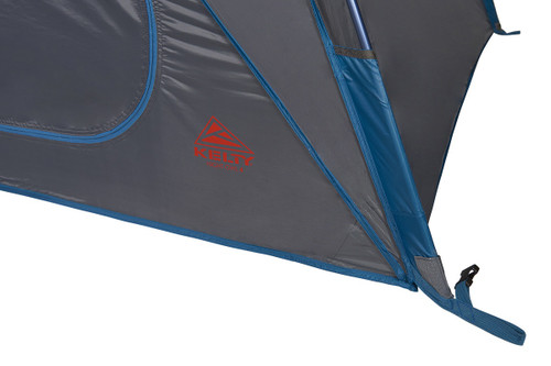 Close up of Kelty Night Owl 3 person tent, showing lower pole sleeve