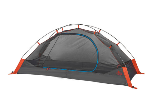 Kelty Late Start 1 person tent, dark gray, with rain fly removed