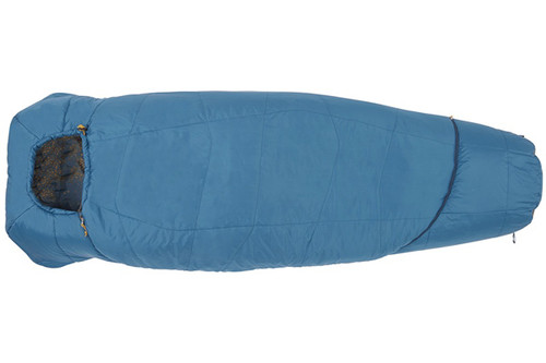 Kelty Tru.Comfort 20 sleeping bag, blue, shown fully zipped