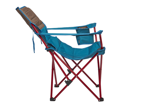 Kelty Deluxe Lounge Chair, Deep Lake, side view, fully reclined