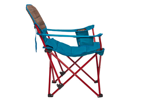 Kelty Deluxe Lounge Chair, Deep Lake, side view, partially reclined