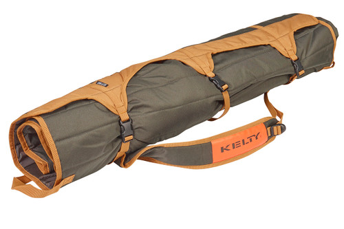 Kelty Essential Chair, Canyon Brown, packed inside padded tote, fully buckled and closed