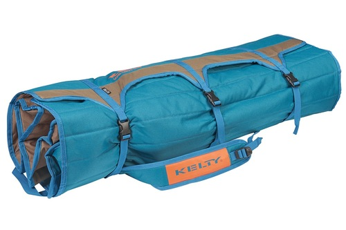 Kelty Low Loveseat 2-person camping chair, Deep Lake, packed in roll-tote, fully buckled and closed