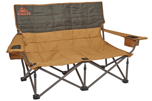 Canyon Brown - Kelty Low Loveseat 2-person camping chair, front view