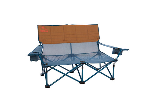 Kelty Mesh Low Loveseat 2-person camping chair, Tapestry, front view