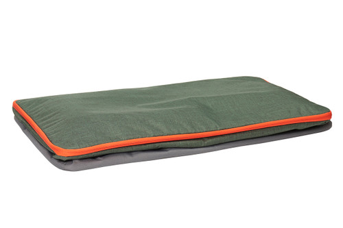 Kelty Big G storage bag, green colorway, fully collapsed