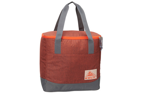 Kelty Lil G storage bag, orange with gray carrying handles, closed