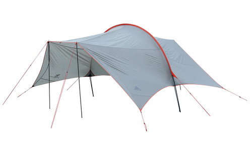 Kelty Big Shady tarp, tan colorway, 3/4 view