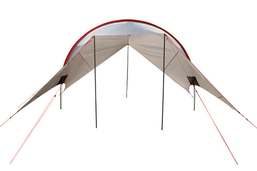 Kelty Big Shady tarp, tan colorway, front view