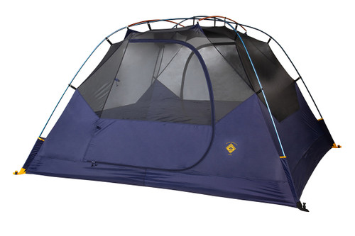Kelty Ranger Doug 4 Person Tent, blue, shown with rain fly removed