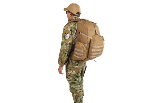 Soldier wearing Strike 2300 USA backpack, as seen from behind