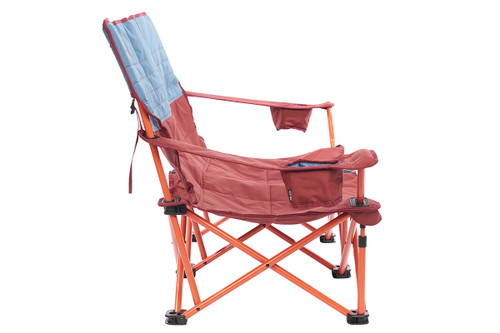 Kelty Discovery Low-Love 2-person chair, blue/red, side view