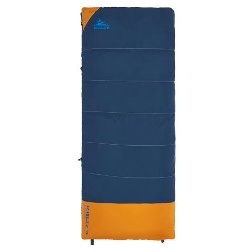 Midnight Navy - Kelty Kids Callisto 30 sleeping bag, shown fully zipped