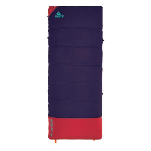 Italian Plum - Kelty Kids Callisto 30 sleeping bag, shown fully zipped