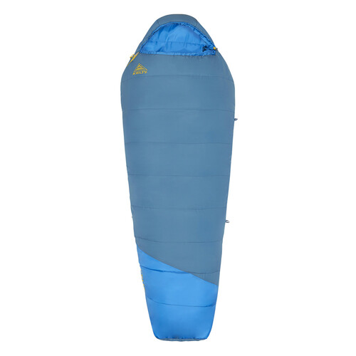 Kelty Mistral 20 sleeping bag, blue, shown fully zipped