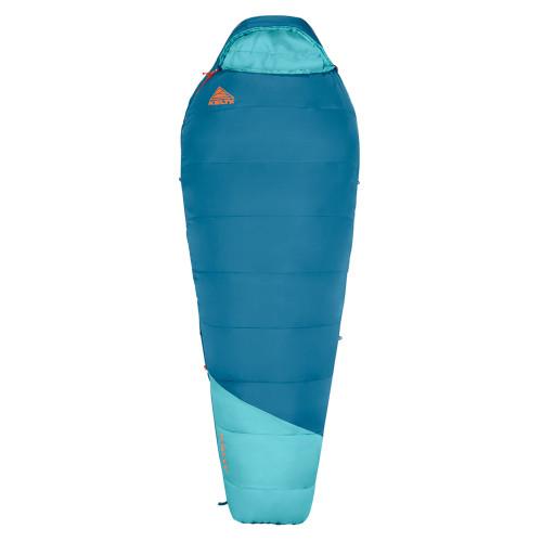 Kelty Women's Mistral 20 sleeping bag, blue, shown fully zipped