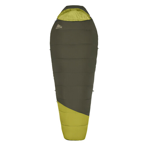Kelty Mistral 40 sleeping bag, green, shown fully zipped