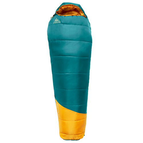 Deep Teal - Kids Mistral 30 sleeping bag, shown fully zipped