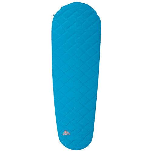 Kelty Cosmic Mummy Sleeping Pad, blue, front view, shown inflated