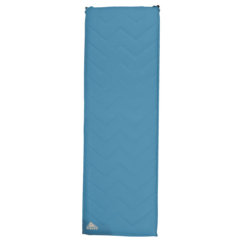 Kelty Galactic Sleeping Pad, blue, front view, shown inflated