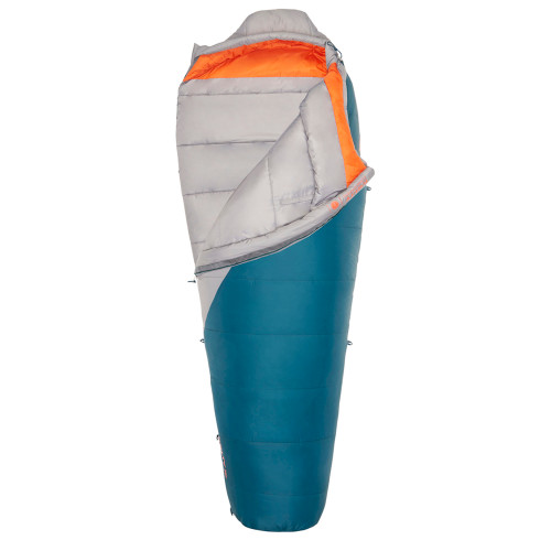 Kelty Women's Cosmic Synthetic 20, gray/blue, shown partially unzipped