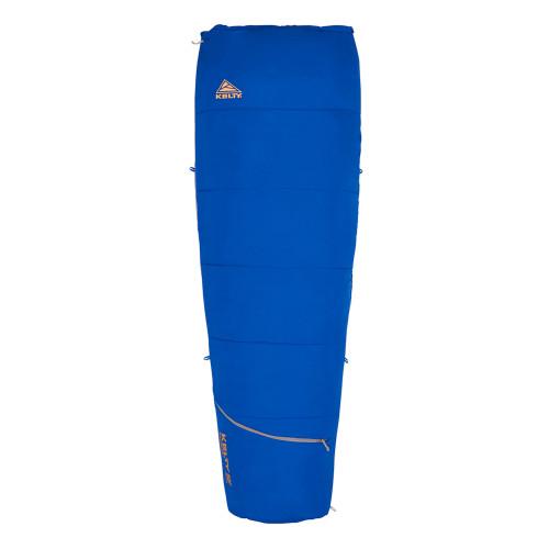 Dazzling Blue - Kelty Rambler 50 Sleeping Bag, shown fully zipped