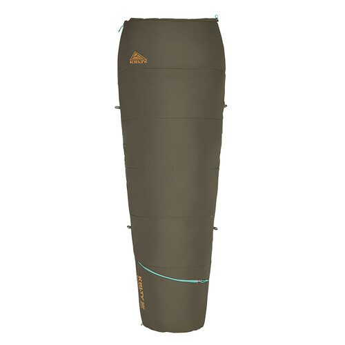 Peat - Kelty Rambler 50 Sleeping Bag, shown fully zipped