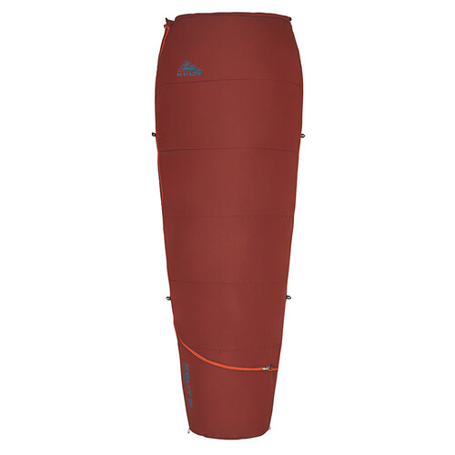Fired Brick - Kelty Rambler 50 Sleeping Bag, shown fully zipped
