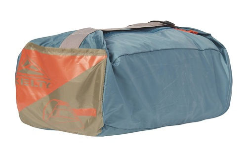 Kelty Cabana shelter, shown packed inside blue stuff sack