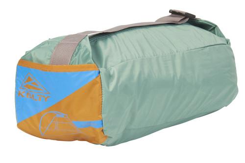 Kelty Cabana shelter, shown packed inside green stuff sack