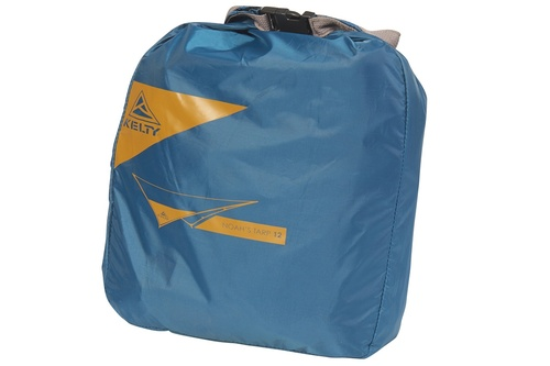 Kelty Noah's Tarp 12, shown packed inside blue storage bag