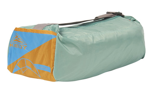 Kelty Sunshade With Side Wall, shown packed inside green storage bag