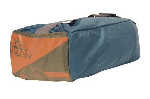 Kelty Sunshade With Side Wall, shown packed inside blue storage bag