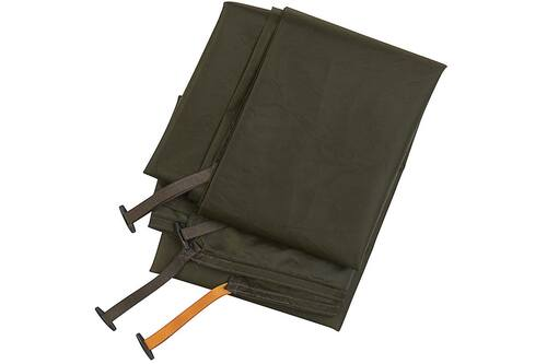 Kelty Grand Mesa 4 Footprint, brown, with brown and orange attachment points
