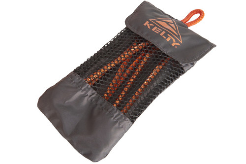 Kelty Feather Stakes, orange, set of 6, in storage bag