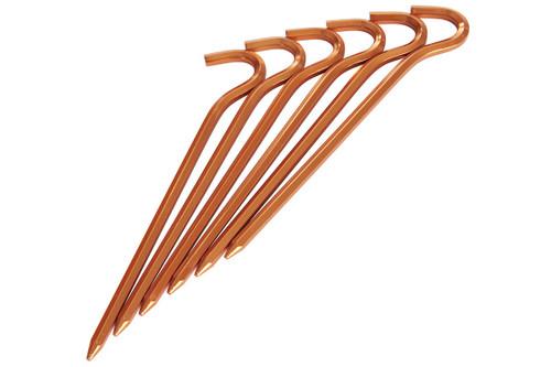Kelty NoBendium II Stakes , set of 6, in orange-colored aluminum